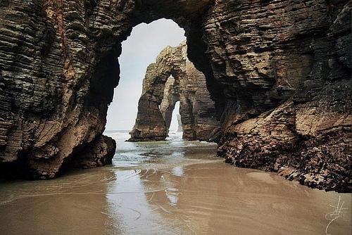 Stranden playa-de-las-catedrales