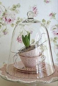 Servies met planten